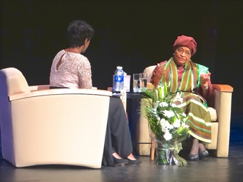 Nobel Prize Winner Visits Queens - Nobel Laureate Speaks At York College | nobel prize winner visits queens liberian president nobel laureate visits york college jamaica queens