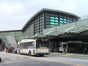 Victor Moore Terminal - Jackson Heights NY Queens | Jackson Heights, Victor Moore Terminal, Public Transportation hub Jackson Heights Queens NY bus service Queens public transit to LaGuardia airport MTA subway links