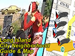 Long Island City Neighborhood Map - Things To Do in LIC Queens NY | Map of Long Island City attractions and events, including PS1, 5 Pointz, Farmers market, Green market, in Long Island City, LIC Queens NY
