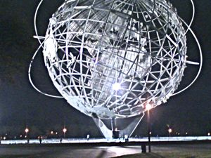Unisphere night Flushing Meadows Corona Park Queens NYC