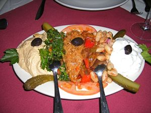 hummus eggplant white beans tabouleh Turkish Grill Sunnyside NY Queens