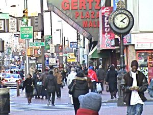 shopping along Jamaica Avenue in Queens NYC