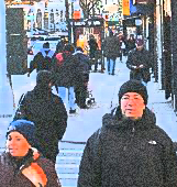 shoppers on Queens Blvd in Sunnyside neighborhood in NYC