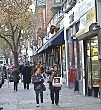 shoppers along 82nd street in Jackson Heights Queens NYC