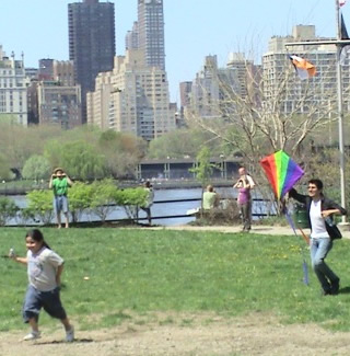 kite Flying at Socrates Sculpture Park Long Island City Astoria Queens