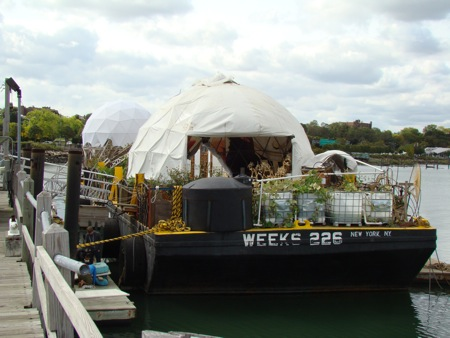 flushing harbor waterpod barge queens ny 2009