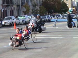 NYC Marathon handicapped participants