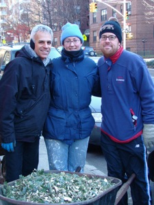 mulching christmas trees in queens 2010