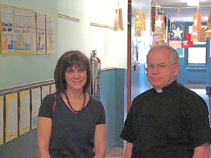 monsignor michael hardiman and principal joann dolan woodside queens