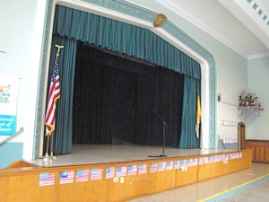 private catholic school auditorium sunnyside