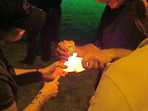 candlelight ceremony 9/11 mcmanus park queens