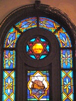 stained glass windows synagogue flushing queens