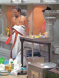 hindu swami in temple queens
