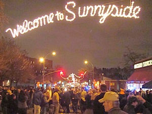 photos of street lighing in sunnyside 2010