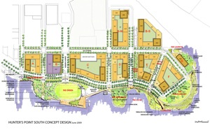 Hunters Point South lic site plan