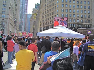may day rally foley square in manhattan nyc