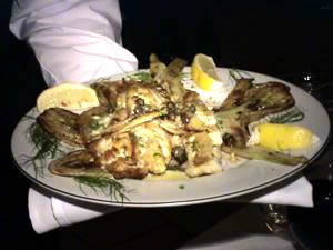 veal at manducatis italian restaurant in lic