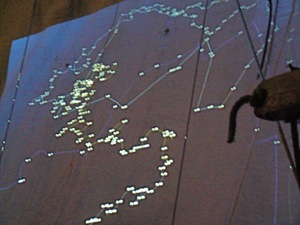 gps tracking system as art