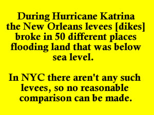 companisons of hurricane irene vs hurricane katrina