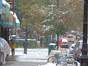 snowy halloween in queens