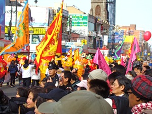 photos of chinese new year parade in flushing queens 2012