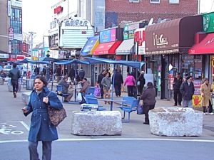 jackson heights pedestrian mall march 2012