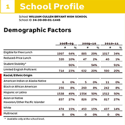 bryant high school demographic mix