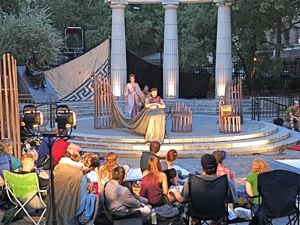 the minervae in athens square park astoria