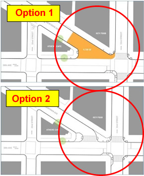 queens dot newtown ave pedestrian mall options astoria