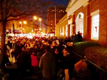jackson heights neighborhood tree lighting photo