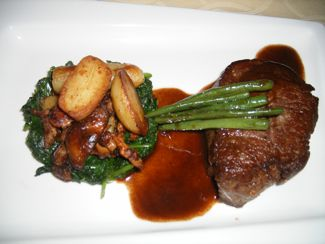 filet mignon steak Waters Edge restaurant Long Island City queens ny