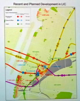 map showing lic development residential development lic commercial development lic