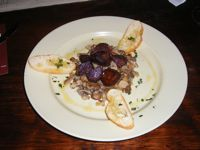 sauteed mushroom chorizo and crostinis winegasm astoria queens ny
