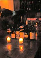 wine bottles at winegasm bar restaurant  astoria queens ny
