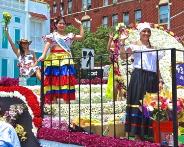 colombian flower parade photos queens