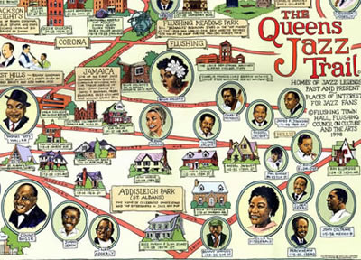 queens home of jazz queens jazz trail map