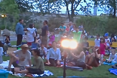 flicks n jazz in garden sunnyside
