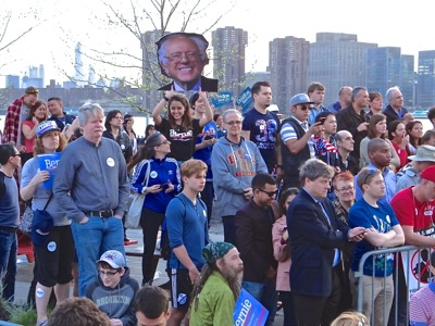 bernie sanders queens nyc