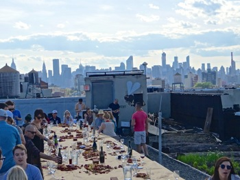 Brooklyn Grange & Edible Queens Host Butcher Paper Dinners | brooklyn grange edible queens butcher paper dinners queens lic